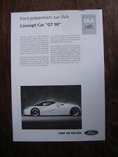 Ford Concept Car GT 90, Prospekt / Brochure / Depliant, D