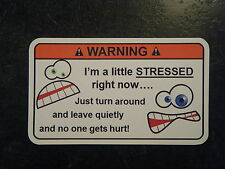 Stressed Tool Box Warning Sticker - Gold - Must Have!!