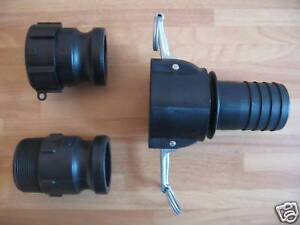 IBC Adaptor to Camlock fitting to 2 inch 50mm hose tail