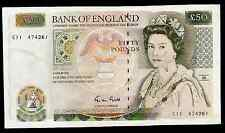 GREAT BRITAIN - BANK OF ENGLAND -  50 POUNDS - 1988 / 1991 ISSUE - P381 - AU