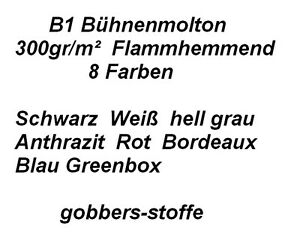 B1 Bühnenmolton-Molton-Deko-Stoff 9 Farben 300gr/m² Foto Studio Hintergrund