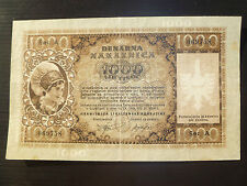 Slovenia (Germany) Lot P-R9 1944 1000 Lire VF German Occupation Add Collection