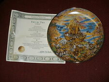"""Franklin Mint 1991 collector plate TWO BY TWO """"Noah's Ark"""" by Bill Bell"""