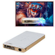 Mini LED DLP WIFI Pocket Projector Miracast For IOS Android Home Cinema HD 1080P