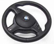! nuevo! volante de cuero bmw e46 e39 m volante con diafragma multi radio. y airbag