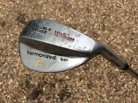 WILSON HARMONIZED 64° TROUBLE WEDGE high lob right handed steel shaft golf club