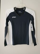 Asics Junior Roll Shot Jersey Exercise & Fitness Top, Navy/White, Sz M Nwt