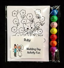 Wedding Day Kids Activity Fun Sets with Ball Crayon x  1 Pack