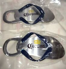 Lot of 2 Corona Sandal Flip Flop Beer Bottle Cap Opener / Magnet ~ New