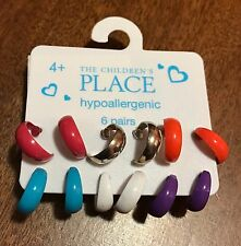 6 Pairs The Children's Place  Earrings 4+