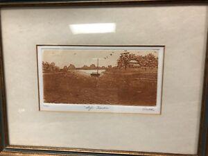 """Vintage Anne Tuttle Original Litho Etching """"Safe Harbor"""" 90/350 Signed"""