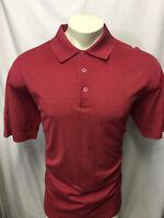 Bugatchi Uomo Men's Short Sleeve XL Maroon Polo Shirt 100% Cotton