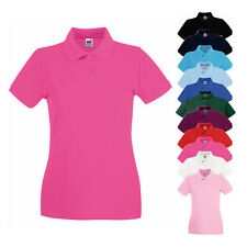 Fruit of the Loom Damen Polo Shirt Premium Baumwolle Poloshirt kurzarm Neuware