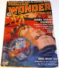 Thrilling Wonder Stories – US pulp – April 1939 - Vol.13 No.2 - Kuttner, Long