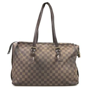 100% authentic Louis Vuitton Damier Chelsea N51119 shoulder bag used 1018-3-e@3c