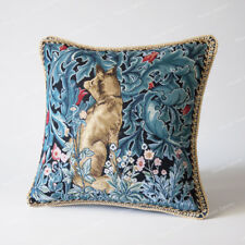"Jacquard Weave Tapestry Pillow Cushion Cover William Morris - Fox, 18""x18"", AU"