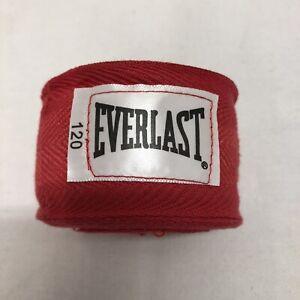 "EVERLAST 120"" BOXING HANDWRAP - RED - NEW"