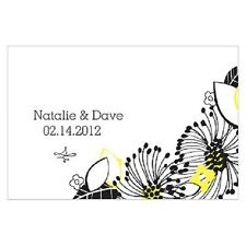 24pk Personalized Floral Fusion Large Rectangular Tags Wedding Favors