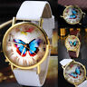 Hot Womens Lady Casual Butterfly Watches Leather Analog Quartz Dress Wrist Watch