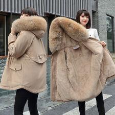Damen Warm Puffer Langer Mantel Parka Oberbekleidung Mantel Winter Kapuzenjacke
