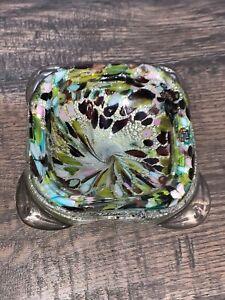 Vintage Murano glass millefiori ashtray
