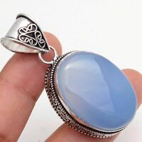 Chalcedony Ethnic Jewelry Handmade Antique Design Pendant MP-479