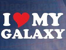 I LOVE/HEART MY GALAXY Novelty Car/Window/Bumper Vinyl Sticker/Decal
