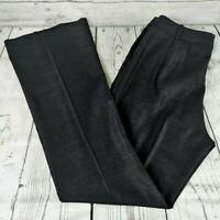 St. John Charcoal Gray Wool/Silk Blend Stretch Flare Leg Dress Pants Women's 6