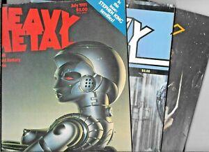 Heavy Metal Low Grade Lot (3) June 1980 May July 1981 Corben Moebius 1977 Series