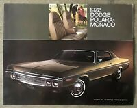 1972 Dodge Polara Monaco original American sales brochure