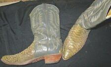 Justin Brand Men's Genuine Rattlesnake Skin Cowboy Boots, Size 13 D, Used