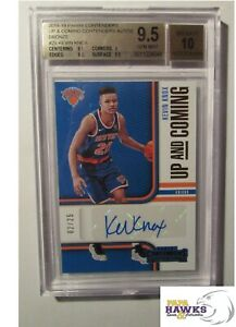 2018-19 Panini Contenders Up and Coming KEVIN KNOX Auto 02/25 9.5 Beckett Knicks
