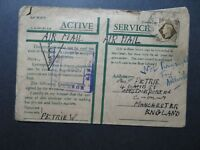 Egypt 1942 Active Service Cover to England / Censored / Creasing/Stained- Z10671