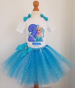 Girls Frozen Elsa Birthday tutu dress  Girls Birthday Outfit Christmas Costume