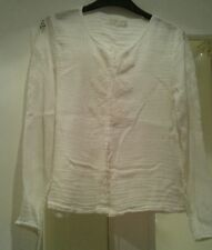Zara Girls Soft Collection White Full Sleeve Shirt Top Age 13 - 14 years
