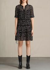 all saints embroidery star dress size Small