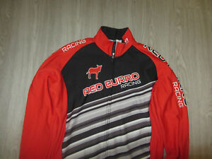 Red Burro Racing Long Sleeve Cycling Bike Bicycle Thermo Jersey DNA Cycling L Lg