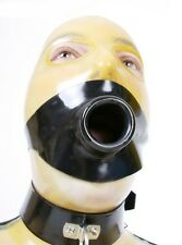 Latex Mouth Gag with Pipe 4 cm, Gummi Rubber Ring Gag (optional color)