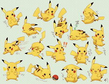 "38 Pikachu - Japanese Anime Pokemon Game 18""x14"" Poster"