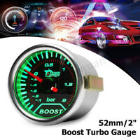 2'' 52mm Universal Car LED Turbo Speedo Boost Gauge Vacuum Press Meter   # /