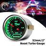 2'' 52mm Universal Car LED Turbo Speedo Boost Gauge Vacuum Press Meter   # /