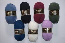7 x 100 gr. Sockenwolle/Strumpfwolle Opal Uni 4-fach