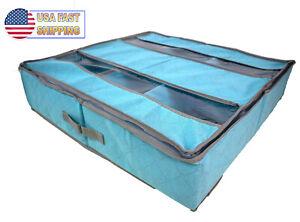 Under Bed Shoe Storage Holder Organizer Chest Container Drawer Transparent Top