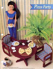 Pizza Party ~ fits Barbie dolls, Annie's plastic canvas pattern leaflet