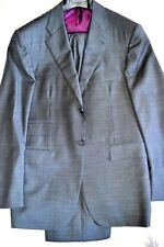 $6.7K NWT 42R eu52 KITON Dk GREY 3 button notch lapel handmade wool suit ITALY