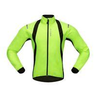 WOSAWE Veste cycliste, vestes de cyclisme impermeables thermique Jersey pou H4C5