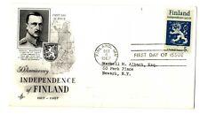 Sobre primer día Finlandia First Day Stamps sellos Circulado