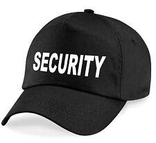 Basecap security Noir videur Casquette Chapeau dossier service de sécurité Cappy neuf