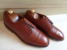 Church's vtg cap toe derby UK 8 42 brown Capitol leather lace up Brogue detail