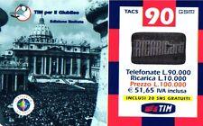 SCHEDA RICARICA USATA TIM GIUBILEO 90 SETT.2002 20M OCR 14 CAB 23